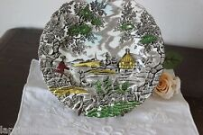 IL CACCIATORE  PIATTINO D'EPOCA IN CERAMICA - THE HUNTER VINTAGE CHINA PLATE