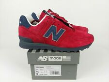 New Balance 574 Classic Made In USA Suede Red Blue Shoes US574XAD Men's Size 9.5