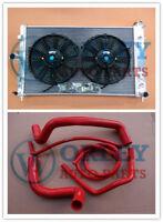 FOR Holden VZ Commodore RADIATOR&FANS&RED HOSE GEN3 LS1 5.7L GEN4 LS2 6L V8 SS