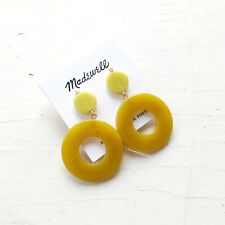 Madewell Circle Statement Earrings Mystic Yellow - Silver Posts - NWT