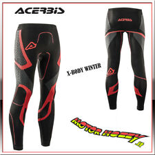 PANTALONE TECNICO CROSS ENDURO ACERBIS X-BODY WINTER PANTS NERO ROSSO TAGLIA S/M