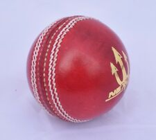 6 x Nexuke Attack Red Leather Cricket Ball Hand Made - 35 Overs Ball Guaranty