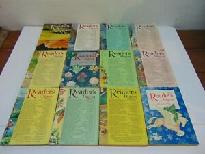 Readers Digest Magazine ~ Lot of 12 ~ 1956 ~ Back Issues ~ All Year
