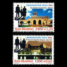 San Marino 2001 - Emigration to the USA Architecture - Sc 1503/4 MNH