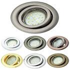 Einbaustrahler GU10 , MR16 Rahmen rund schwenkbar Einbauleuchte Spot LED OH15