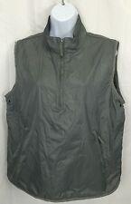 GAP Gray Half-Zip Pull-Over Nylon Vest Women's Large L