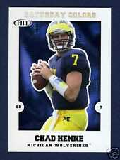CHAD HENNE ROOKIE CARD: 2008 SAGE HIT SATURDAY COLOR
