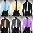 Giorgio Ferraro Mens Dress Shirt w/ French Cuffs & Spread Collar Retail $45