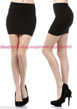 Womens Office Wear To Work Casual STRETCH PENCIL WIGGLE MINI Skirt Black LARGE