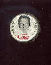 1964 65 COCA-COLA COKE BOTTLE CAP WITH CORK TED LINDSAY DETROIT RED WINGS