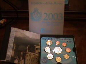 coins pièces monete euro repubblica san marino 2003 divisionale zecca 2003 fdc
