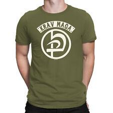 Krav Maga Mens MMA T-Shirt Israeli IDF Martial Arts Self Defense Boxing UFC Top
