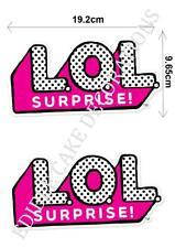 2 X L.O.L Surprise Dolls LOL SIGN Cupcake Edible Paper Cake Topper Decoration
