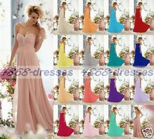 Long Formal Ball Gown Party Prom Bridesmaid Evening Dress Size6-8-10-12-14-16-18