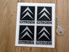 CITROEN Chevron Auto Sticker Schwarz & Silber 52mm 4 stk Set AX GT C2 C3 C4 2CV