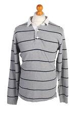 Vintage Old Navy Rugby Sweatshirt Shirt Long Sleeve Tops MEN UK L Grey - PT1063