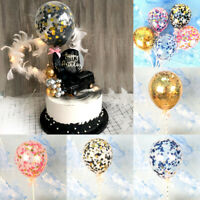 5 inch Confetti Foil Latex Balloon Set Birthday Party Wedding Cake Decor Glitter
