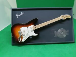 Buddy Holly Fender Atlas Editions Mini Replica Model Guitar- on Stand