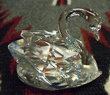 Vintage Swarovski Silver Crystal Medium Swan (J883) Mint, Box, Hallmarked