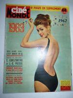 Lot N°107 de 10 magazines revues CINEMONDE année 1963