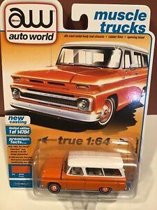 Auto World   1965 Chevrolet Suburban  orange & white