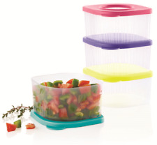 Tupperware New Fresh N Cool Set of 4 Small Storage Containers Bright Seals