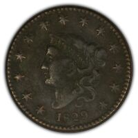 1829 1c Coronet Head Large Cent - Better Date - Mid-Grade Fine+ Coin - SKU-Y2403