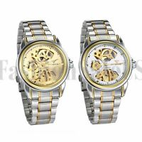 Mens WristWatch Stainless Steel Automatic Mechanical Luminous Sports Wrist Watch