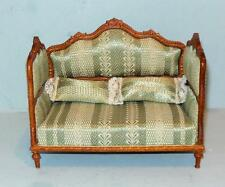 HANSSON DELUXE DAY BED WALNUT CARVED #CA05704  MINIATURE DOLL HOUSE FURNITURE