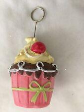 """Pink Multi 4.5"""" Cupcake Paper Clip Figurine"""
