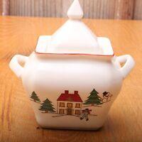 Jamestown China The Joy of Christmas Lidded Sugar
