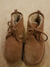 Fat Face Size 3 Lace Up Flat Boots Tan Suede Worn Couple Of Times