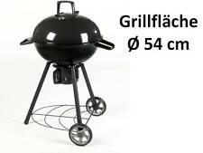 Kugelgrill mit Deckel + Thermometer Holzkohle Grill fahrbar Ø 58 cm UVP 159€