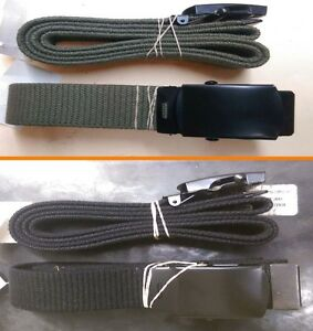 Military Web Belt Black & OD with Black Buckle
