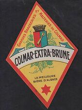 Ancienne étiquette Alcool Bière France BN8245 Brasserie Colmar