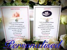 Godparent gift keepsake card personalised new baby, card, christening, baptism