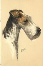 Dog Art Postcard A/S Rf Gaulis, Stehli No.111, Wire-haired Fox Terrier, 1930s