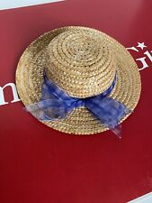 American Girl Straw Hat 1 Pc *from Perwinkle Dress outfit 2002~Blue~Accessory