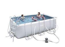 Brand NEW BESTWAY Frame Swimming Pool Filter Pump Ladder 412x201x122cm * 56458