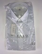 ENRO Non-Iron EZCOOL Men's Blue Long Sleeve Dress Shirt Size 16 32-33 Brand New