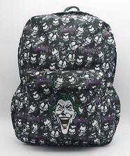 DC Batman Joker Mask School Bag Bookbag Laptop Bag Backpack Rucksack Bag