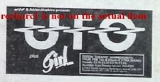 UFO / GIRL UK TIMELINE Advert - Hammersmith Odeon Thurs-7-Feb-1980 2x3 inches