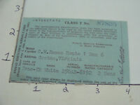 Vintage paper - DRIVERS LICENCE - WEST VIRGINIA - 1960-61 --  CLASS T