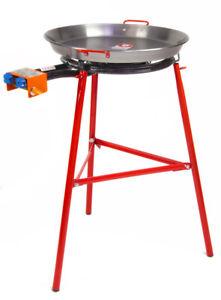 Paella Pan + Paella Burner and Stand Set - Complate Paella Kit
