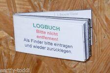 Geocache- Logbuch für 75mm Dose NEU(96 LOGs)