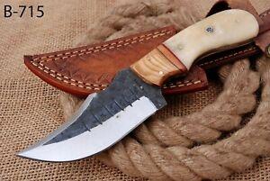 CUSTOM HAND FORGED Railroad High Carbon Steel Hunting Skinner Knife (715)