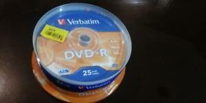 Verbatim DVD-R 25pack 4.7GB 16Xspeed120 min NEW Sealed