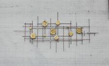 Brutalist Metal Sculpture modern abstract wall art bertoia, fantoni, jere