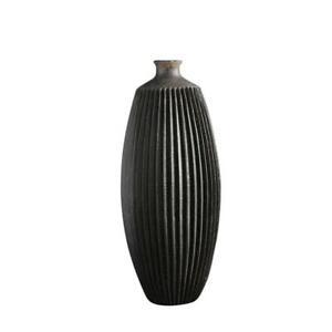 Tall Matte Black Decorative Vase for Flowers Indoors Home Design Ornament