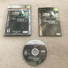Tom Clancy's Splinter Cell Platinum Hits Xbox CIB Complete Tested Work 2002 2003